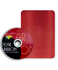 32mm x 91mtr Red Tear Ribbon