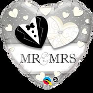"Wedding ""Mr & Mrs"" - 45cm Flat Foil"