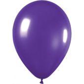30cm Metallic Purple Latex - Pkt 100