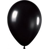 30cm Metallic Black Latex - Pkt 100