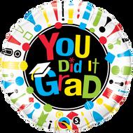 "Congrats ""You Did It"" - 45cm Flat Foil"