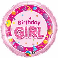 Birthday Girl - 45cm Flat Foil