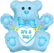 "Baby Boy ""Teddy Bear"" - 31"" Flat Shape"