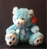 34cm Blue Teddy Bear