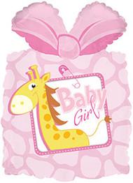 """Baby Girl """"Giraffe"""" - 25"""" Flat Shape"""