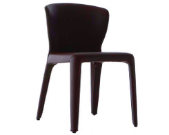 Cassina - Set of 8 Hola chairs (dark brown leather)