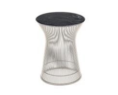 Knoll - Platner side table (nickel/black marble)