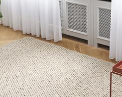 Hay - Peas rug, 3 x 2m (soft grey)