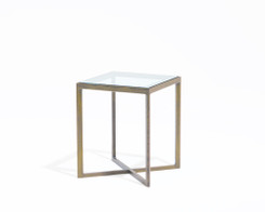 Knoll - Krusin side table (oak/glass)