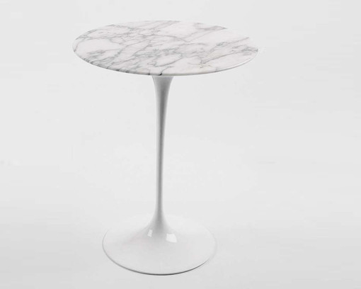 knoll saarinen side table marble image 1