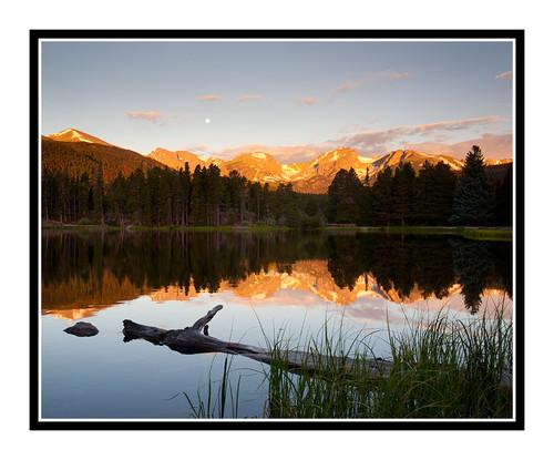Mountains Over Sprague Lake in Rocky Mountain National Park, Colorado 1750