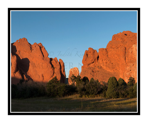 West Face of Garden of the Gods at Sunset in Colorado Springs, Colorado 2302