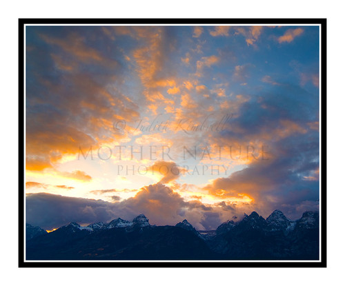 Grand Tetons at Sunset in Wyoming 1091