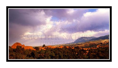Cheyenne Mountain Over Garden of the Gods in Colorado Springs, Colorado 315
