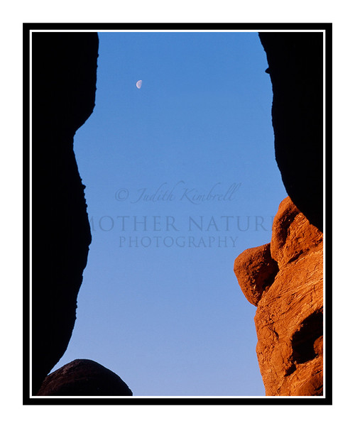 Siamese Twins & Moon Detail in Garden of the Gods 293
