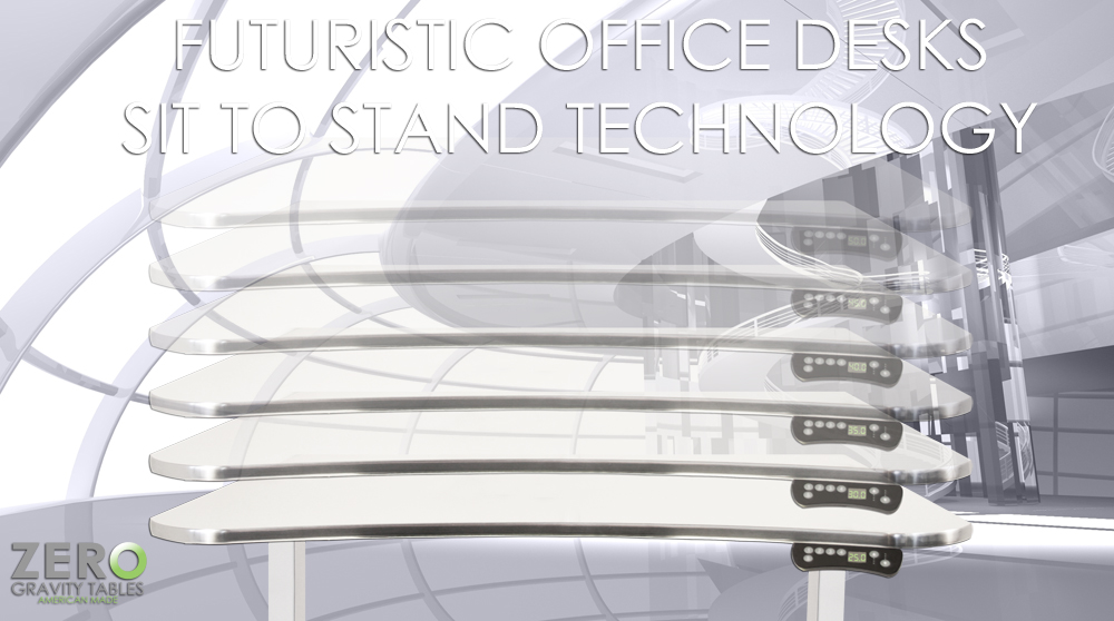 Futuristic computer desk luxurious elegant bedroom office for Futuristic office desk