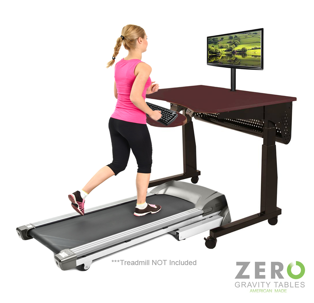 Treadmill exercise desk workstation table - Average office desk height ...