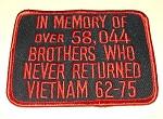 "Memory Vietnam Brothers 4"" x 3"""