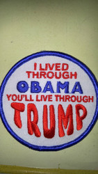 "Trump Obama 3"" embroidered patch"