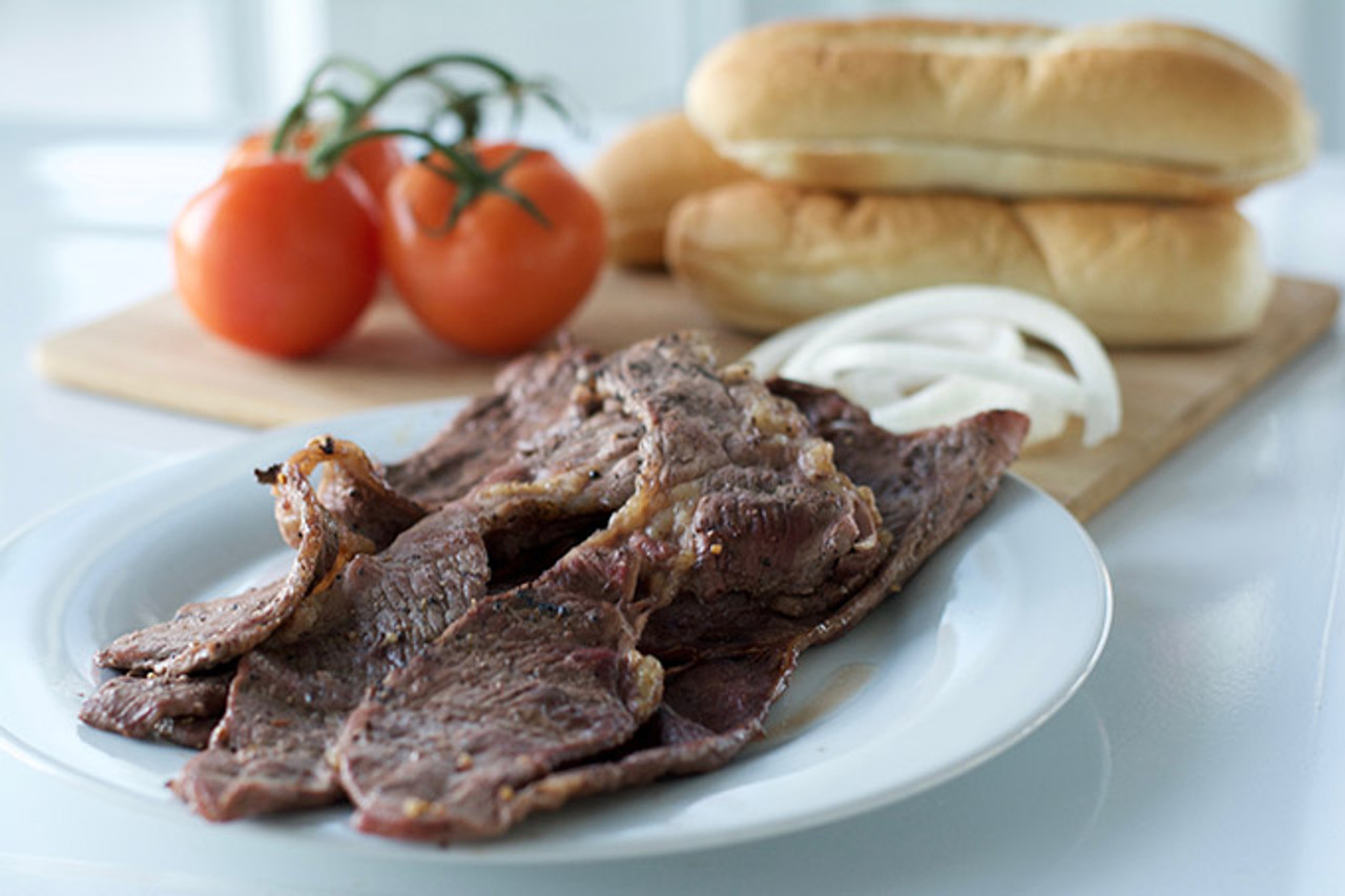 Shaved Steak Cooked with Tomato