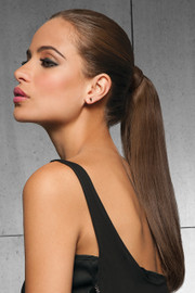 HairDo Extension - 16 Inch Human Hair Pony (#HDHHPN) side 1