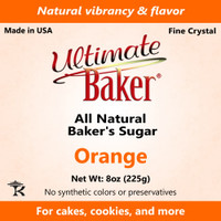 Ultimate Baker Natural Baker's Sugar Orange (1x8oz Bag)