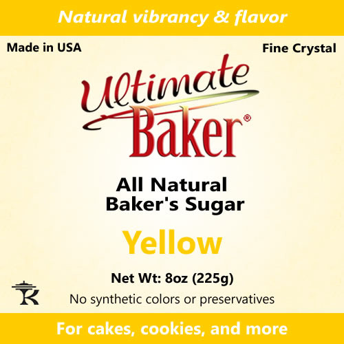 Ultimate Baker Natural Baker's Sugar Yellow (1x8oz Bag)