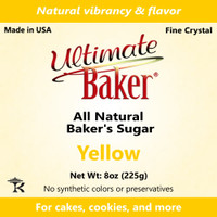 Ultimate Baker Natural Baker's Sugar Yellow (1x8oz Bag)