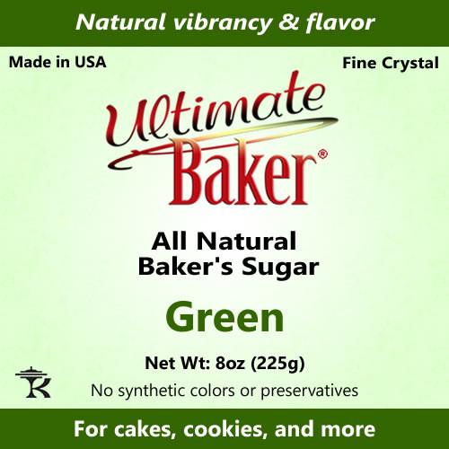 Ultimate Baker Natural Baker's Sugar Green (1x8oz Bag)