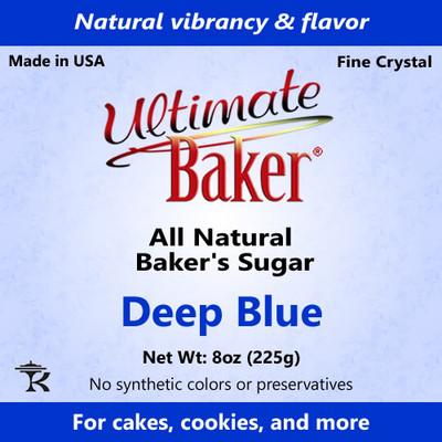 Ultimate Baker Natural Baker's Sugar Deep Blue (1x8oz Bag)