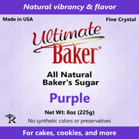 Ultimate Baker Natural Baker's Sugar Purple (1x8oz Bag)