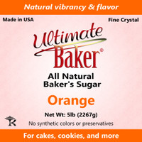 Ultimate Baker Natural Baker's Sugar Orange (1x16lb)