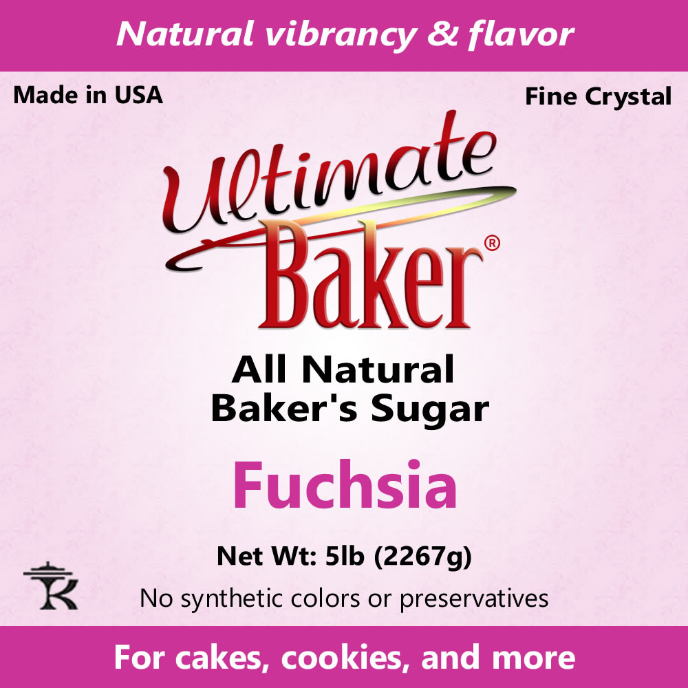 Ultimate Baker Natural Baker's Sugar Fuchsia (1x16lb)