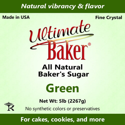 Ultimate Baker Natural Baker's Sugar Green (1x5lb)