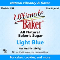 Ultimate Baker Natural Baker's Sugar Light Blue (1x5lb)