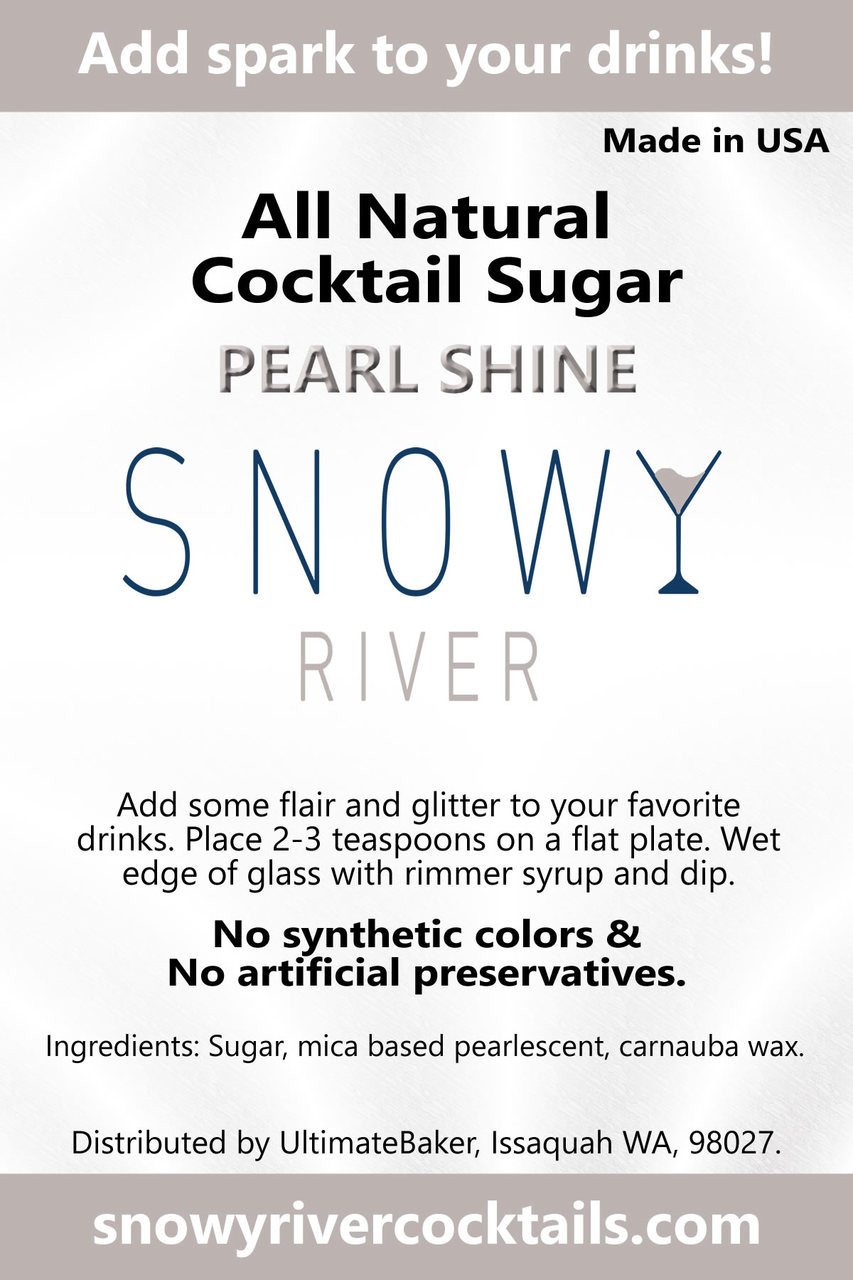 Snowy River Cocktail Sugar Pearl Shine (1x8oz)