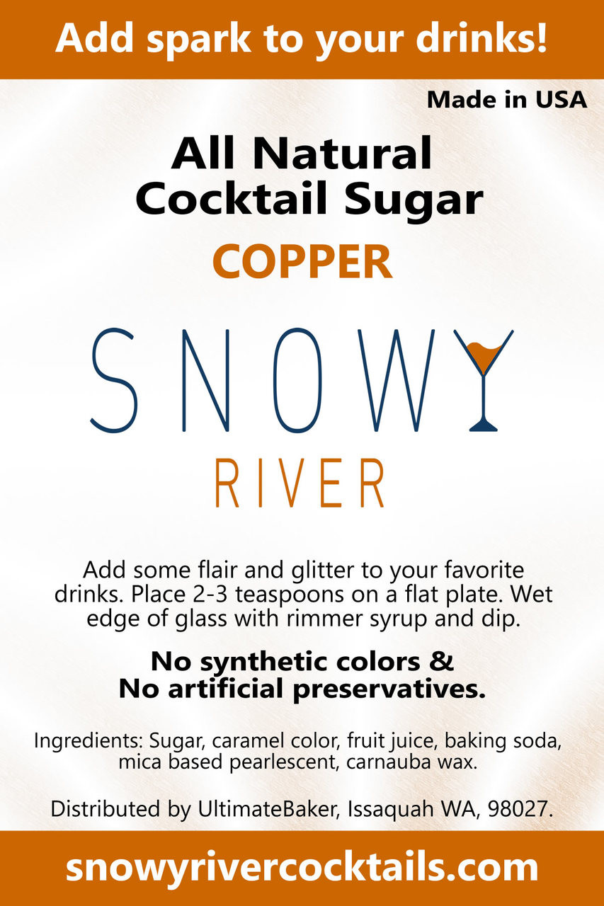 Snowy River Cocktail Sugar Copper Shine (1x5lb)