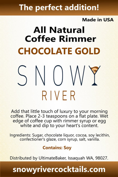 Snowy River Coffee Rimmer Chocolate Gold (1x8oz)