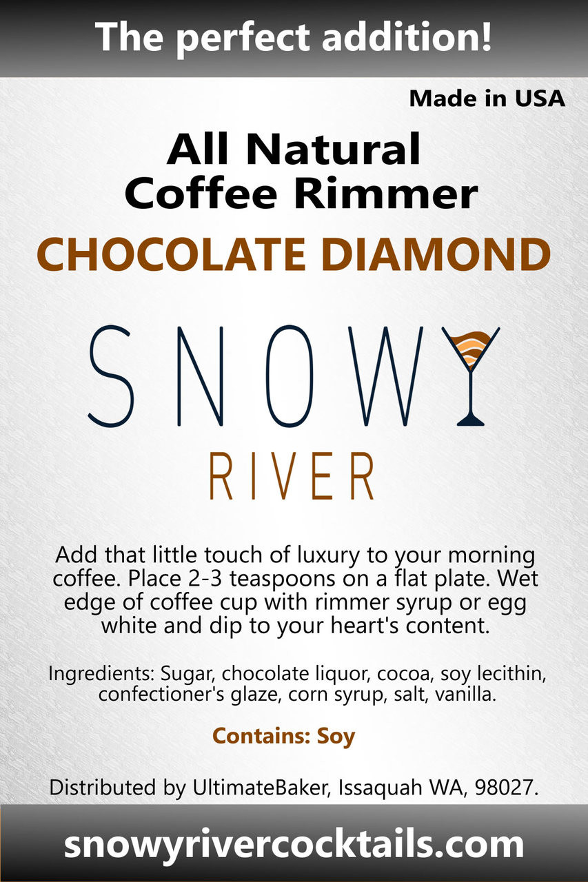 Snowy River Coffee Rimmer Chocolate Diamond (1x5lb)