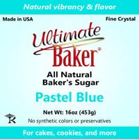 Ultimate Baker Natural Sanding Sugar (Fine Crystal) Pastel Blue (1x1lb)