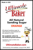 Ultimate Baker Natural Sanding Sugar (Med. Crystals) Orange (1x5lb)