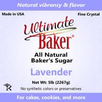 Ultimate Baker Natural Sanding Sugar (Fine Crystals) Pastel Lavender (1x5lb)