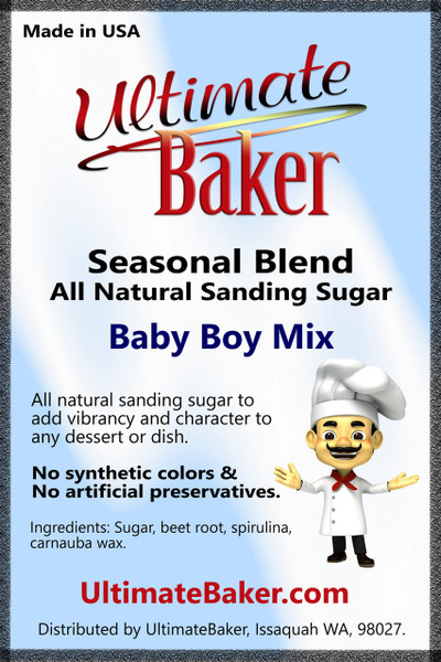 Ultimate Baker Natural Sanding Sugar Baby Boy Mix (1x1lb)