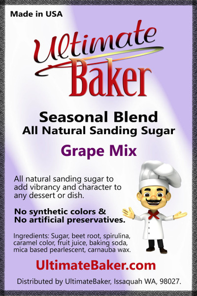 Ultimate Baker Natural Sanding Sugar Grape Mix (1x1lb)