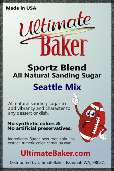Ultimate Baker Sportz Blend Sanding Sugar Seattle Mix (1x1lb)