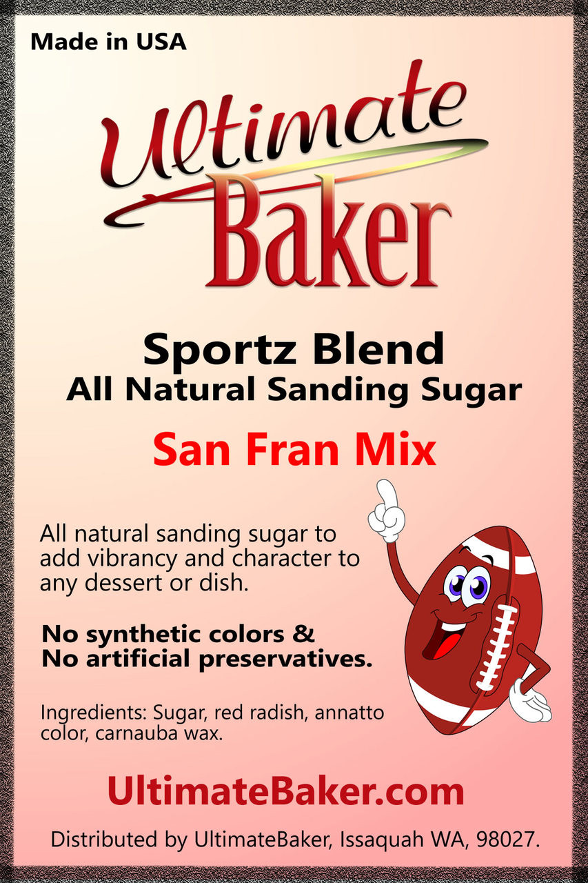 Ultimate Baker Sportz Blend Sanding Sugar San Fran Mix (1x1lb)