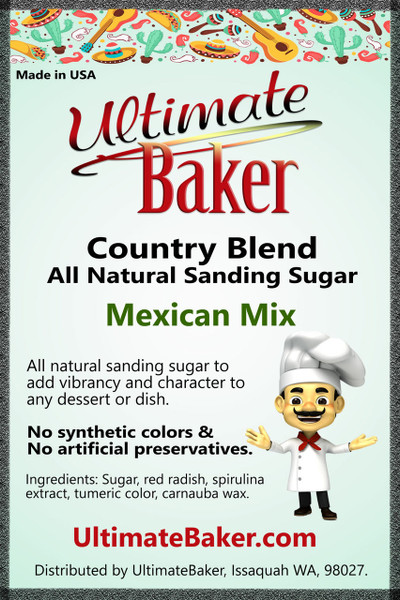 Ultimate Baker Country Blend Sanding Sugar Mexican Mix (1x1lb)