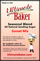 Ultimate Baker Natural Sanding Sugar Sunset Sparkle (1x8lb)