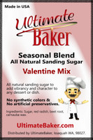 Ultimate Baker Natural Sanding Sugar Valentine Mix (1x8lb)