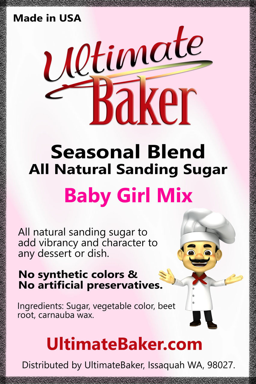 Ultimate Baker Natural Sanding Sugar Baby Girl Mix (1x8lb)